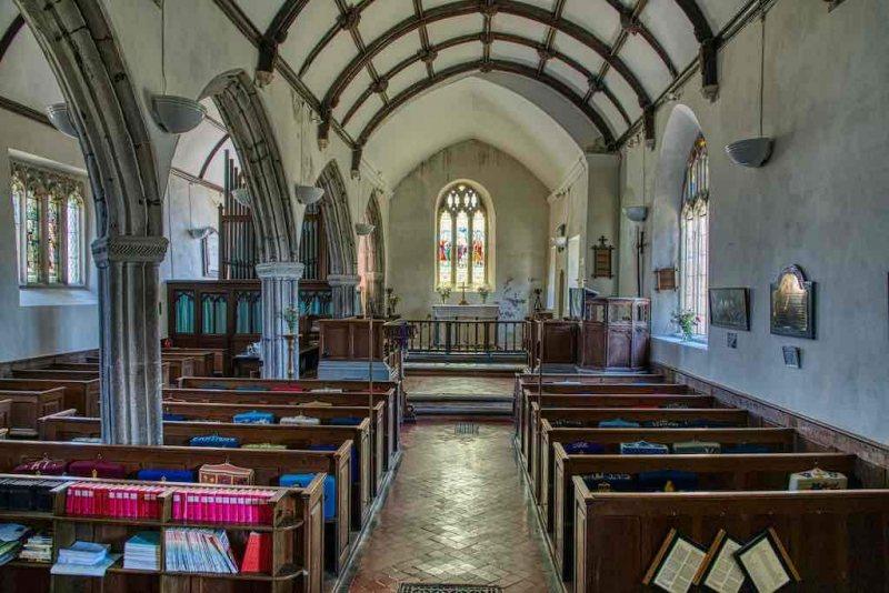 Church-Interior-Nave-Pew-Pillar-15th-Century-Medieval-Rackenford