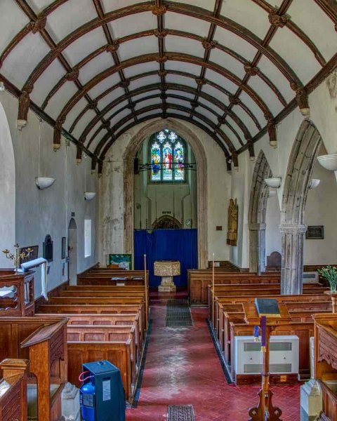 Church-Interior-Nave-Pew-Tower-Arch-Font-15th-Century-Medieval-Rackenford