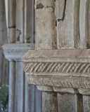 Pillar-Capital-15th-Century-Stone-Carving-Plain-Foliage-Medieval-Rackenford