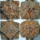 Wood-Carving-Plain-Roof-Boss-Foliage-15th-Century-Medieval-Rackenford.