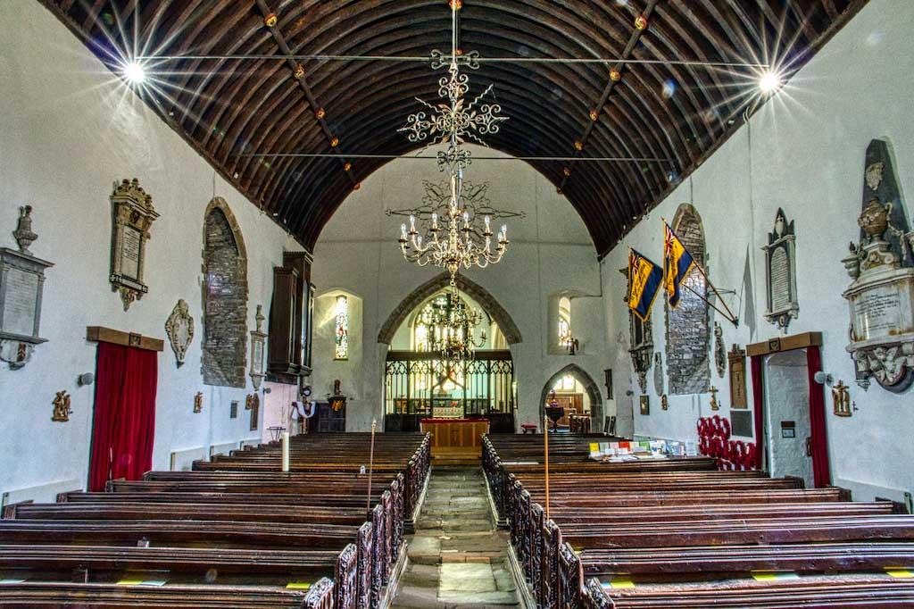 Braunton church nave; the widest nave in Devon…?