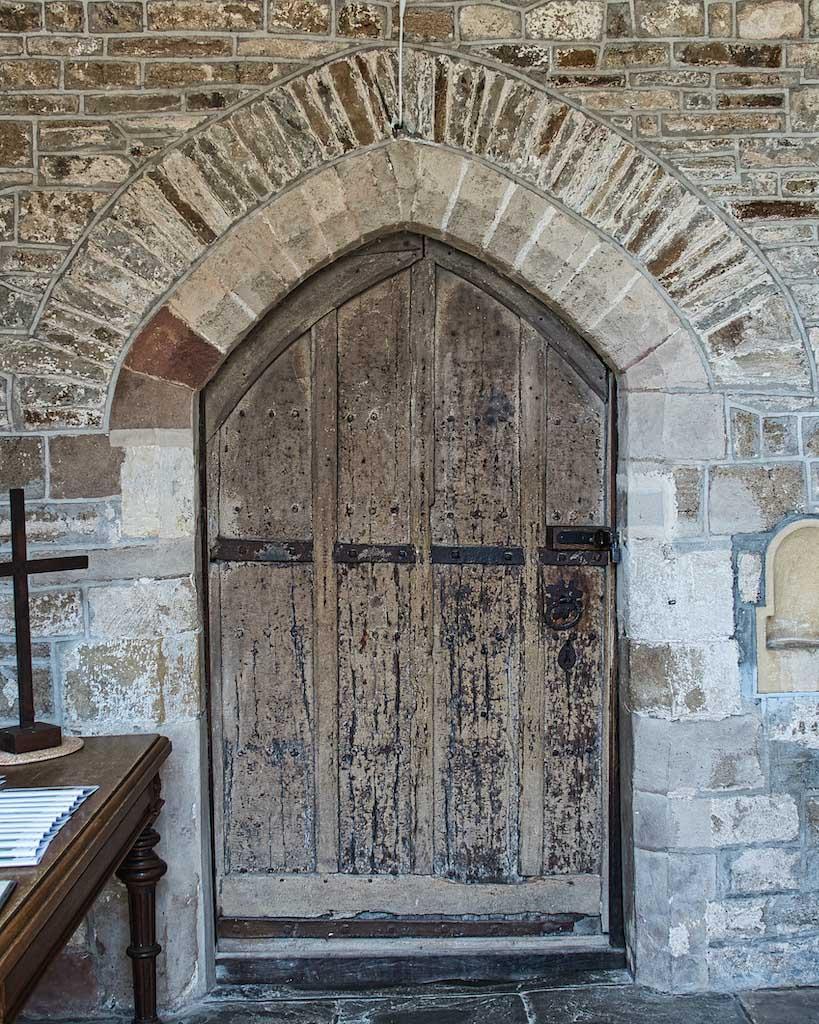 South door to Braunton church.