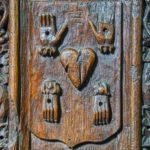 Medieval Benchend Wounds Of Christ Braunton
