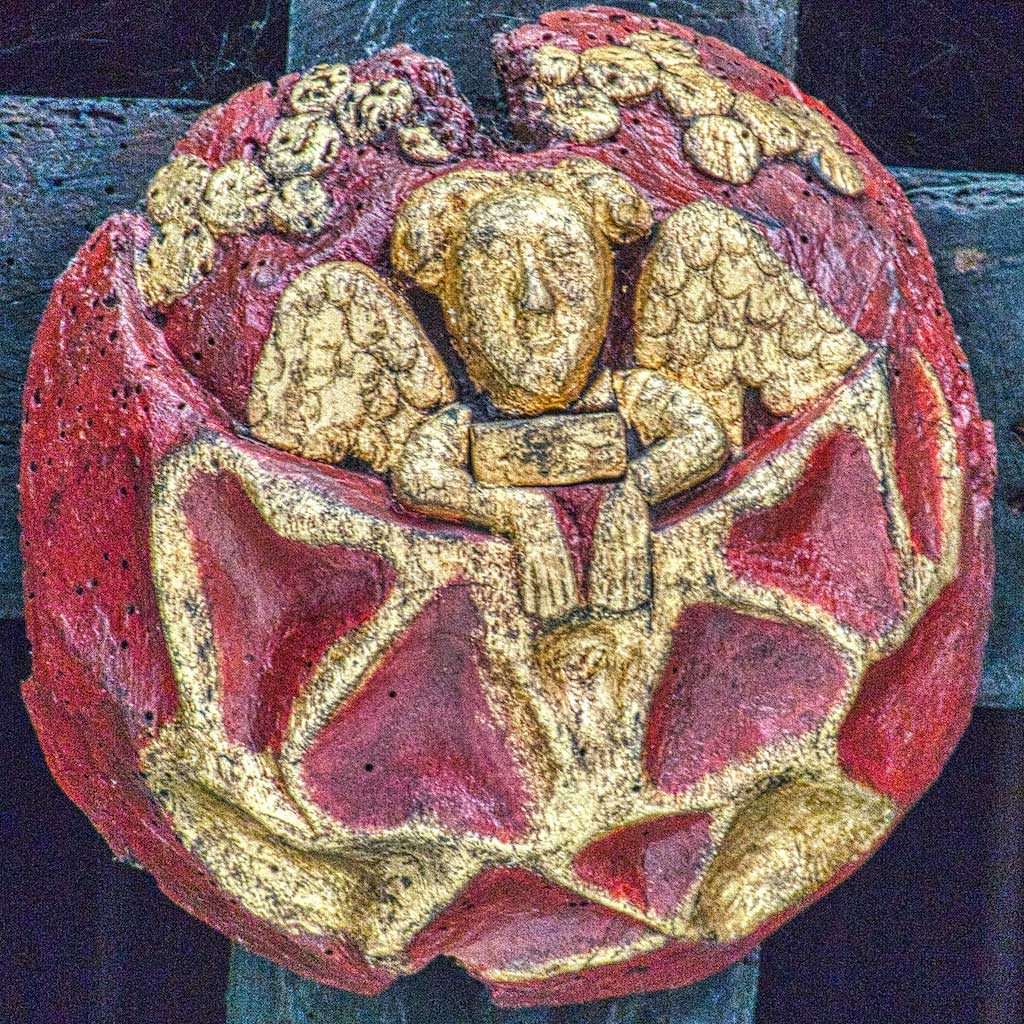 Medieval Roofboss Angel Braunton