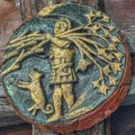 Medieval Roofboss Man In The Moon Braunton