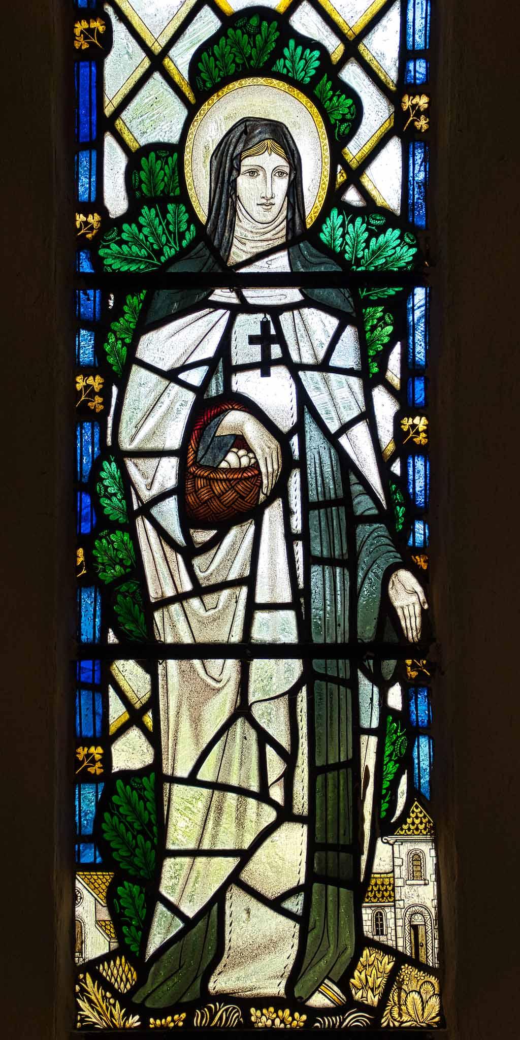 Virginstowe Church Stained Glass 20th Century Saint Brigid