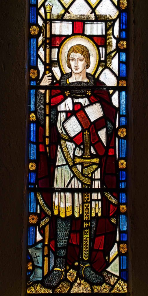 Virginstowe Church Stained Glass 20th Century Saint George