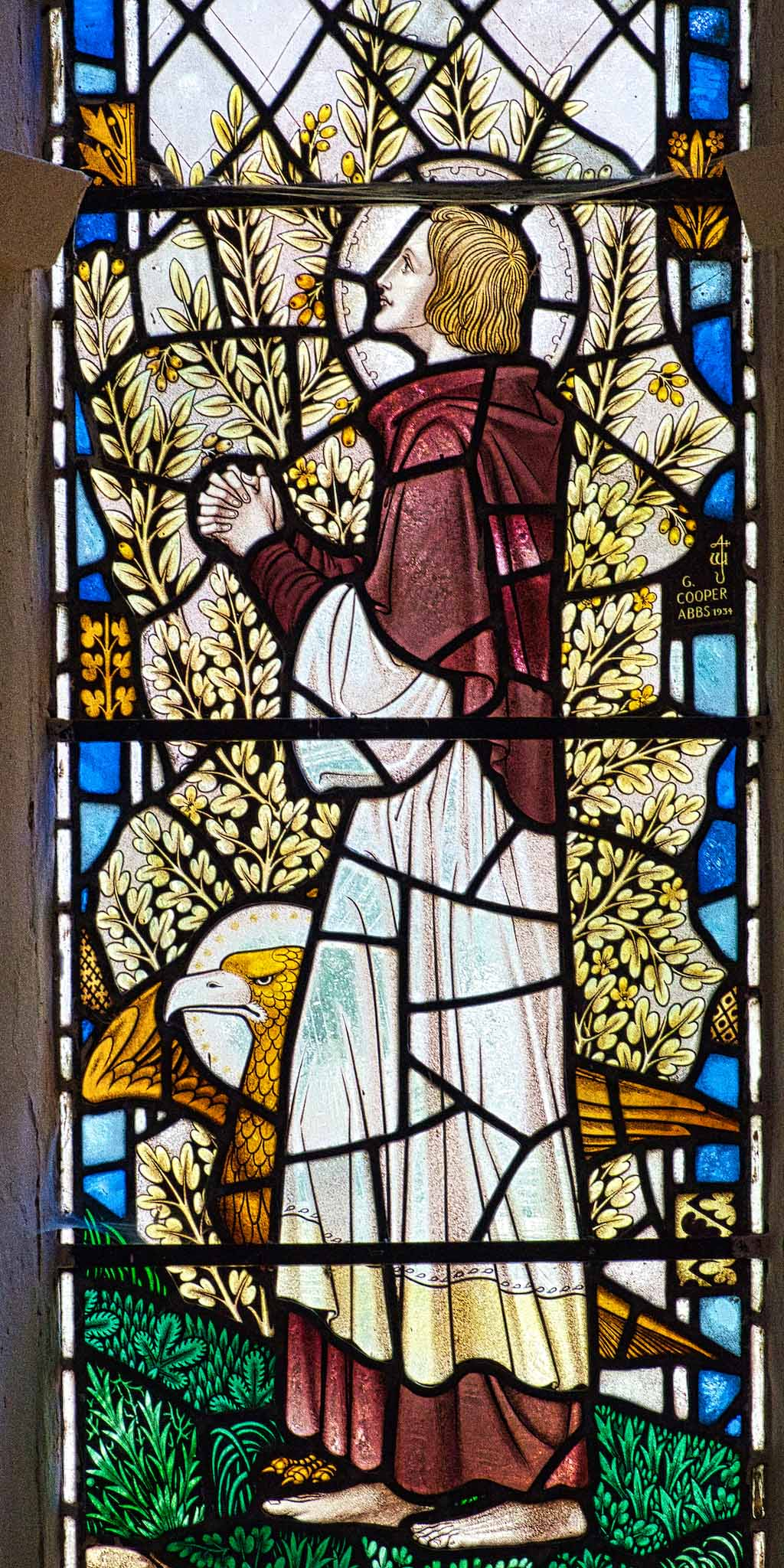 Virginstowe Church Stained Glass 20th Century Saint John