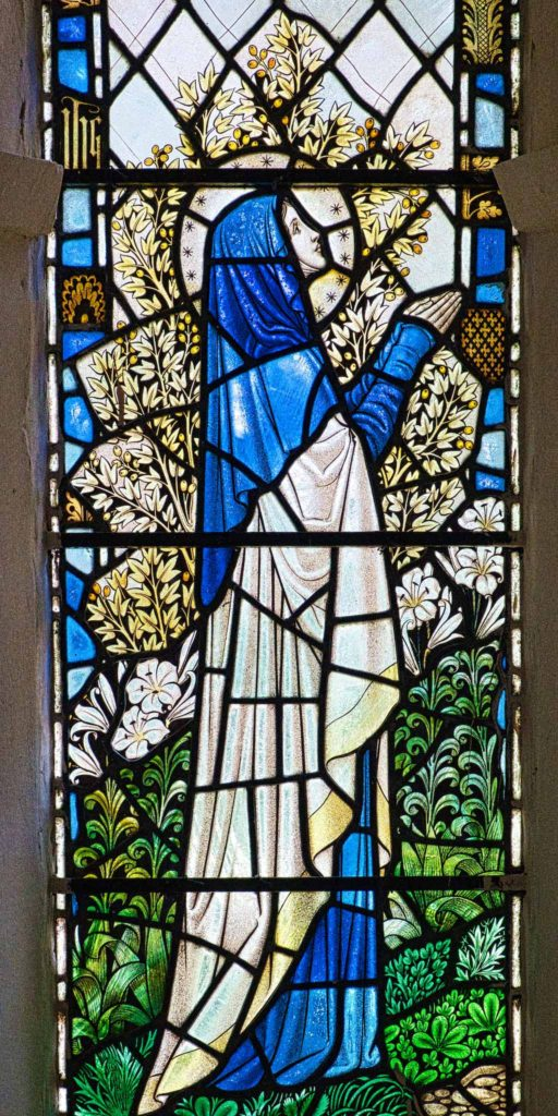 Virginstowe Church Stained Glass 20th Century Saint Mary
