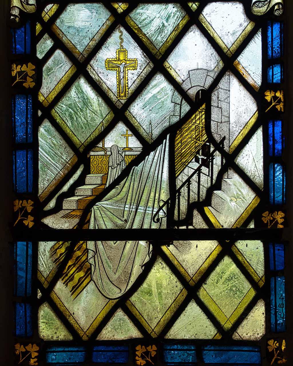 Virginstowe Church Stained Glass Saint Brigid
