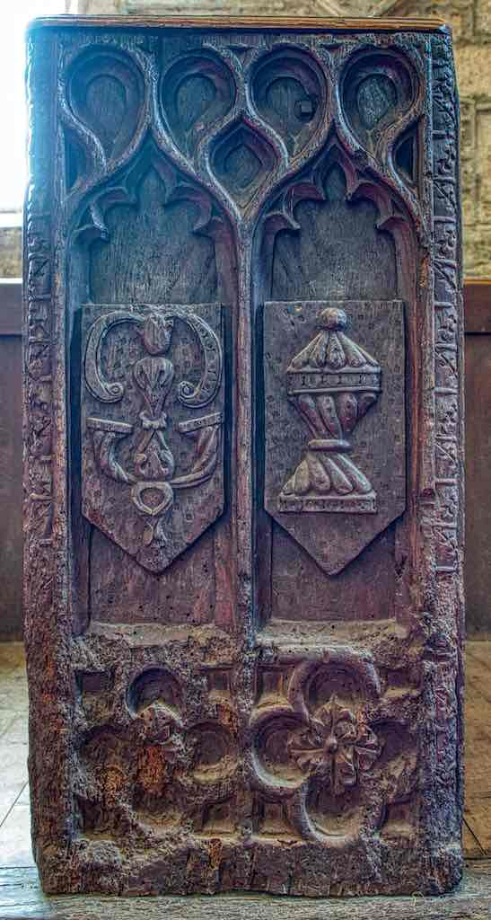 Benchend 16th Century Renaissance Carved Wood Broadwoodwidger