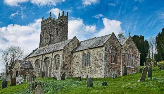 Church Exterior Medieval Broadwoodwidger West Devon