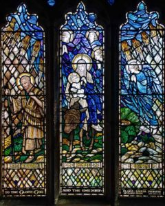 Flight Into Egypt Stained Glass 20th Century Thurleston