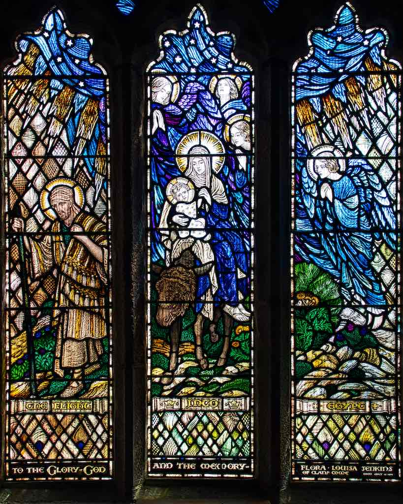 The Flight into Egypt, a stonking window by AJ Davies who worked in the 20th century