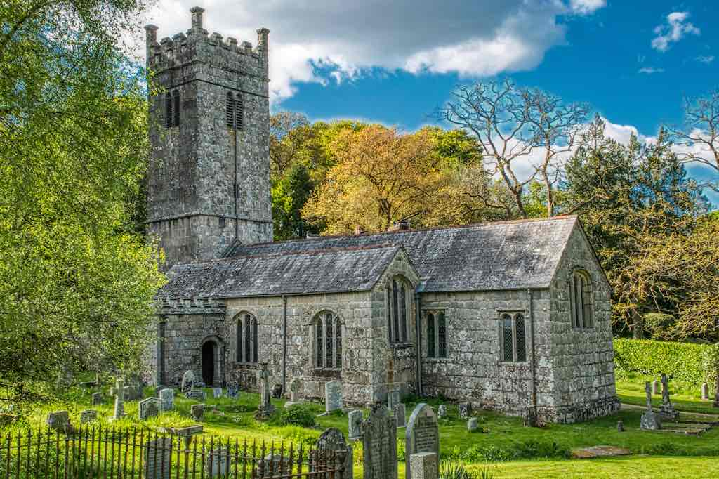 Beautiful Gidleigh, high on the moor in one of the best churchyards in Devon.