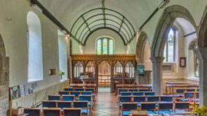 Nave Church Interior Gidleigh Mid Devon Dartmoor