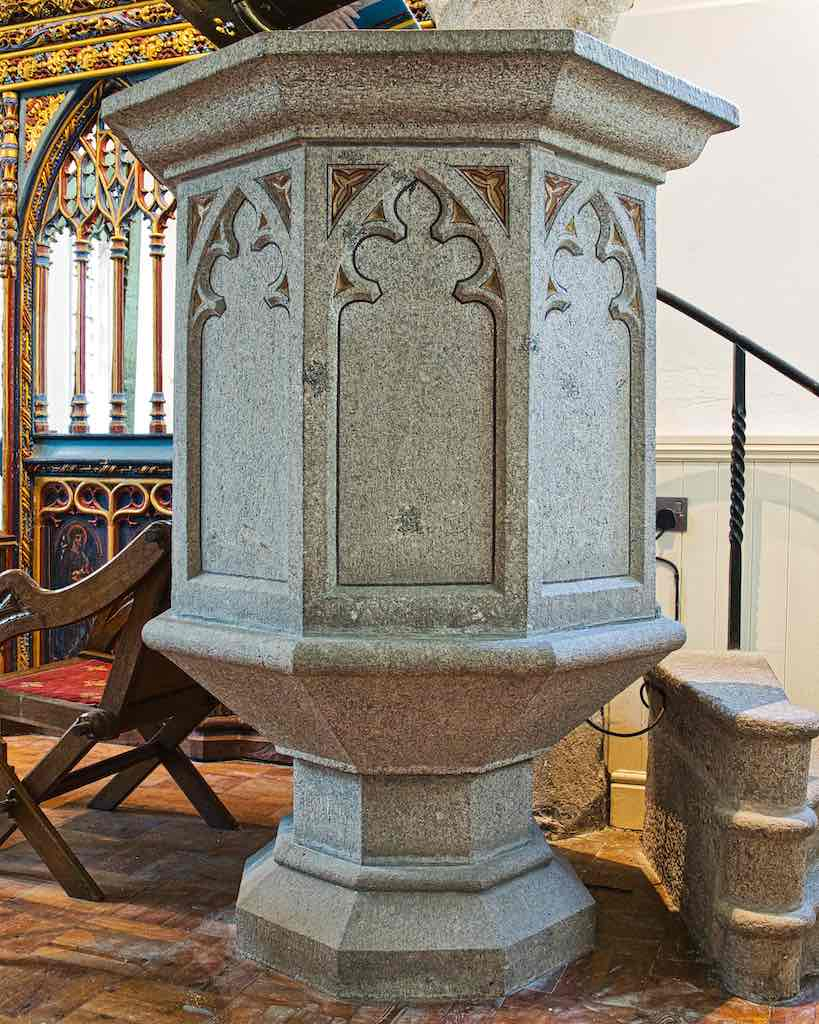 Pulpit Stone Granite Carved Plain Victorian Carving Gidleigh
