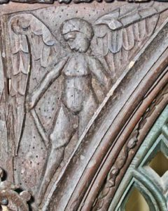 Roodscreen Carved Wood Plain Angel 16th Century Broadwoodwidger