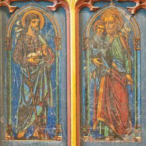 Roodscreen Painting Saint John Christopher Victorian Gidleigh