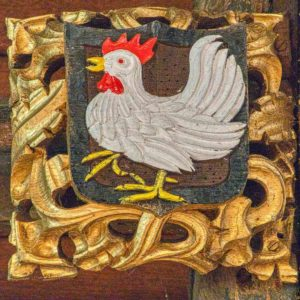 Roofboss Instruments Of Cockerel Nails Medieval Thurlestone
