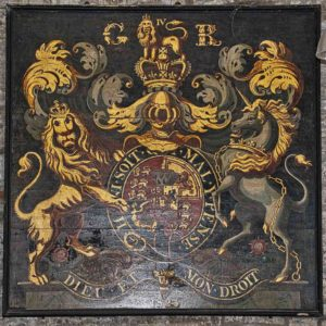 Royal Coat Of Arms GeorgeIV Wood Painted Broadwoodwidger