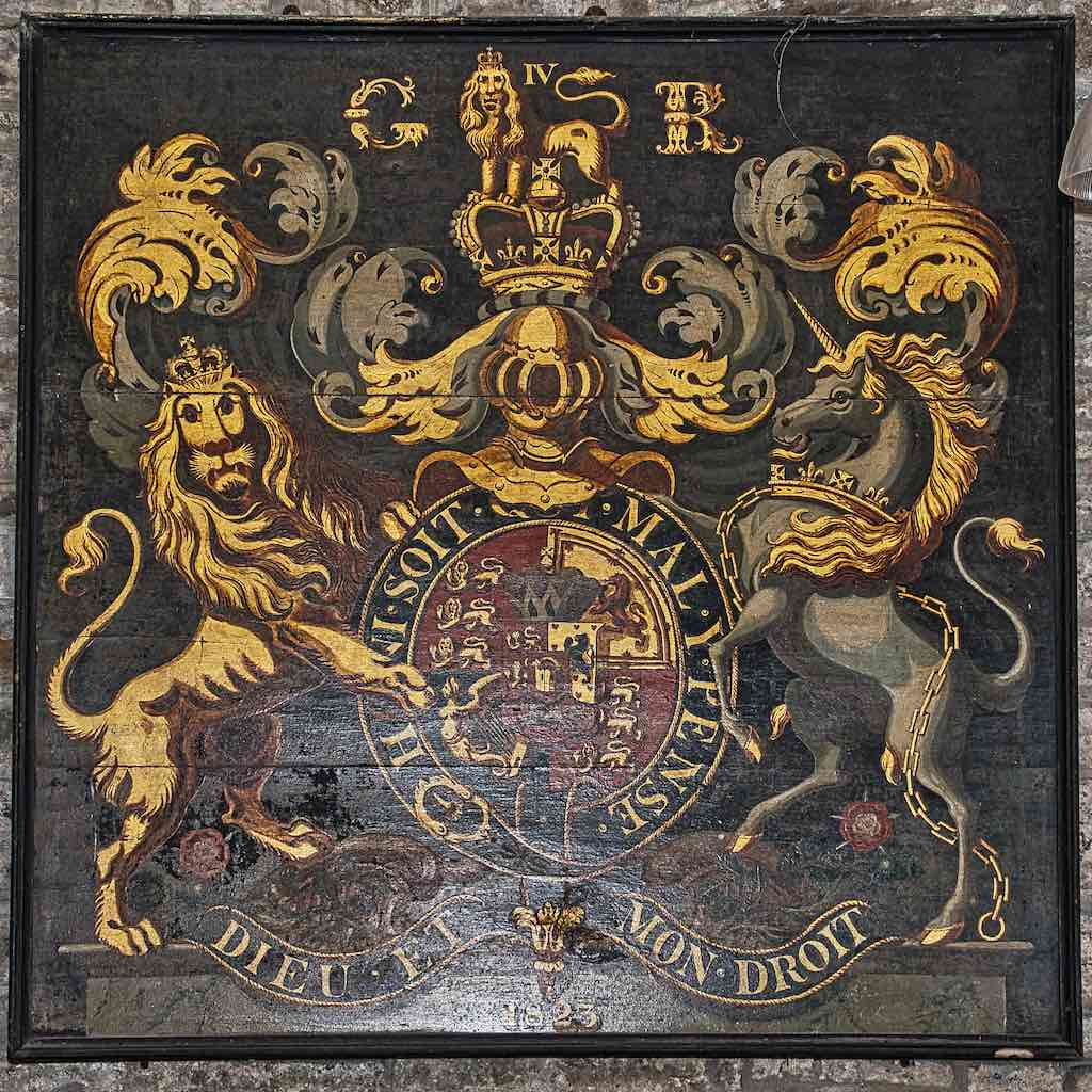 The lion looks distinctly unhappy.