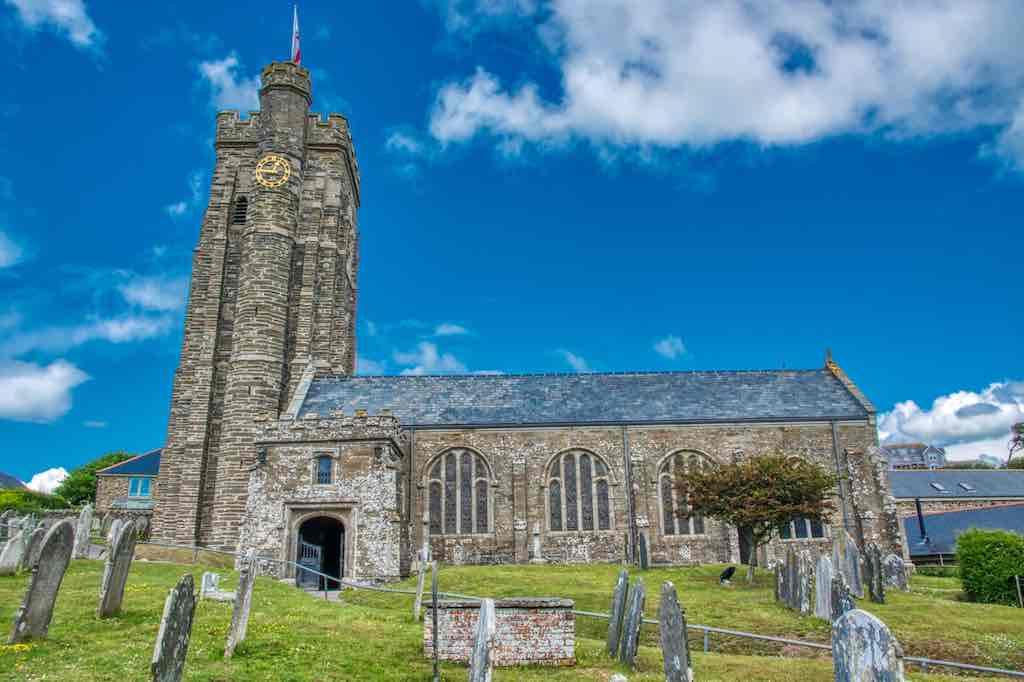 Beautiful old stone and fine old windows makes Thurlestone church a stunner.