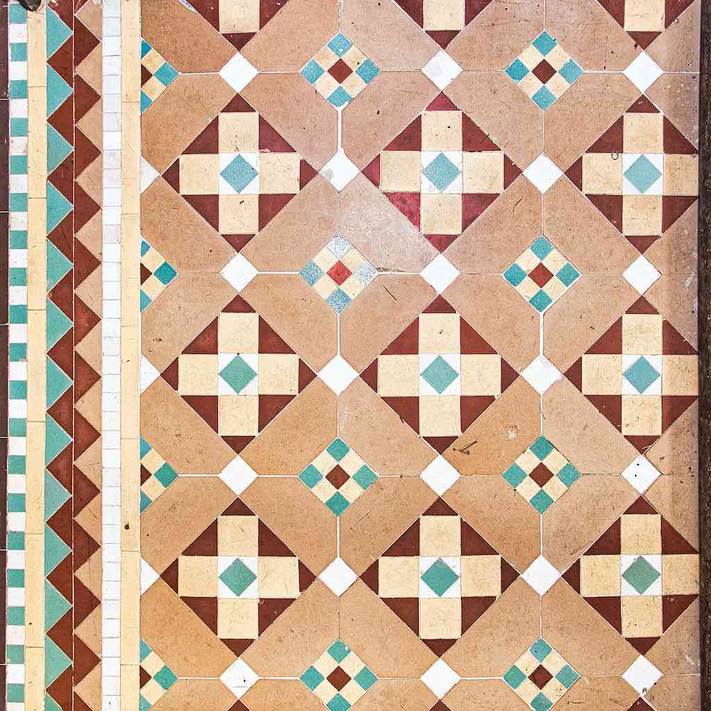 Geometric tile design in pastels, isn't it lovely?