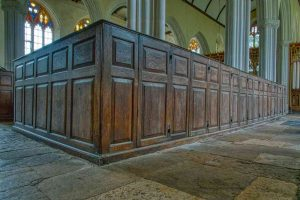 Box Pews Oak Wood Carving Plain 18th Century Nave Torbryan