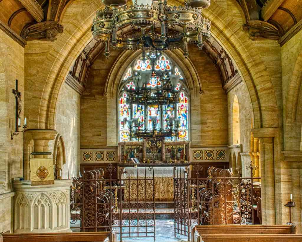 The golden chancel in Huish Church, Mid Devon
