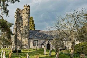 Church Exterior East Devon Medieval 15th Century Stone Churchyard Dalwood