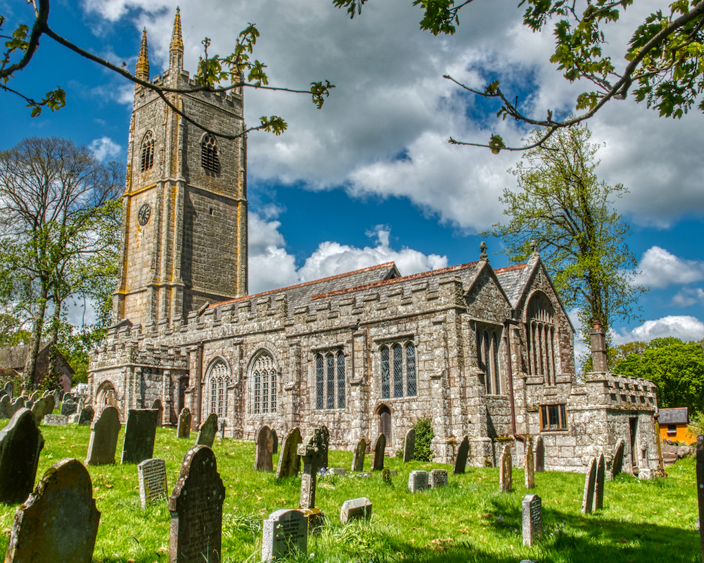 Sampford Courtenay church in Mid Devon