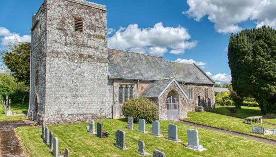 Church Exterior Medieval Churchyard Mid Devon Loxbeare