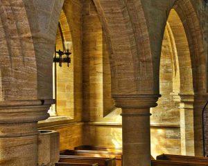 Church Interior Ham Stone Pillar Arcade Light GESreet Huish