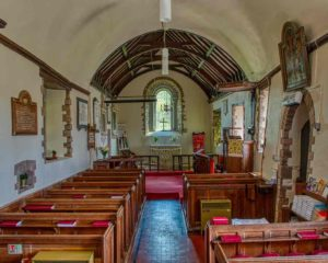 Church Interior Nave Medieval Mid Devon Loxbeare