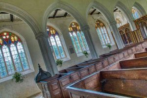 Church Interior Nave Windows Box Pews Medieval 15th Century Torbryan