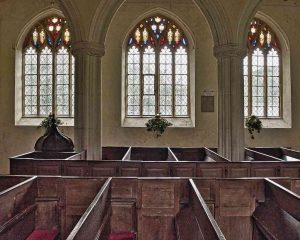 Church Interior Nave Windows Pews Medieval 15th Century Torbryan