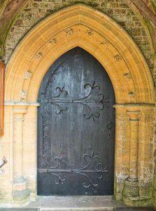 Door Neogothic Victorian 19th Century Hamstone Stonewok Huish