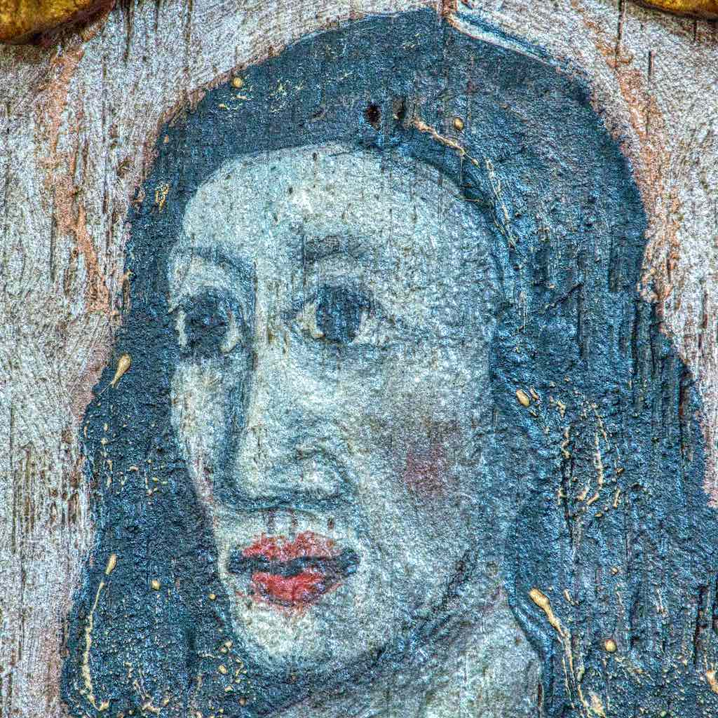 Head Wood Face 16th Century Medieval Holne