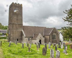 Holne Church Exterior South Devon Dartmoor