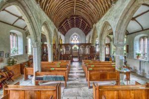 Holne Church Interior South Devon Dartmoor