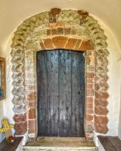 Norman Doorway Old Door Medieval Chevron Church Mid Devon Loxbeare