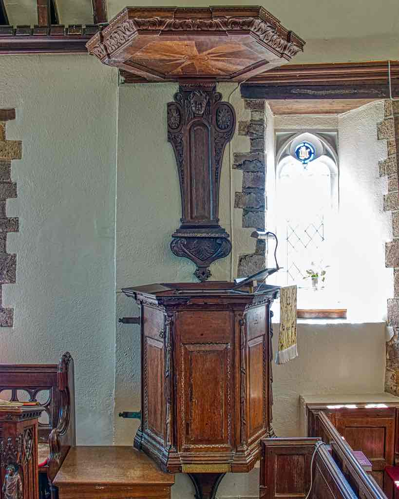 The late 17th century pulpit, for those loooong sermons…