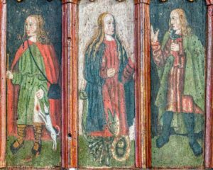 Saints Roodscreen Painting Wood Holne