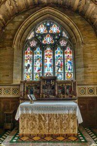 Sanctuary Church Interior Altar East Window Ham Stone Huish
