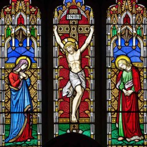 Stained Glass Crucifixion East Window Victorian Holne