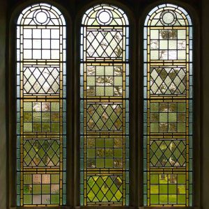 Stained Glass Green Coloured Leading Glazing Window Interior Victorian 19th Century Peace Dalwood