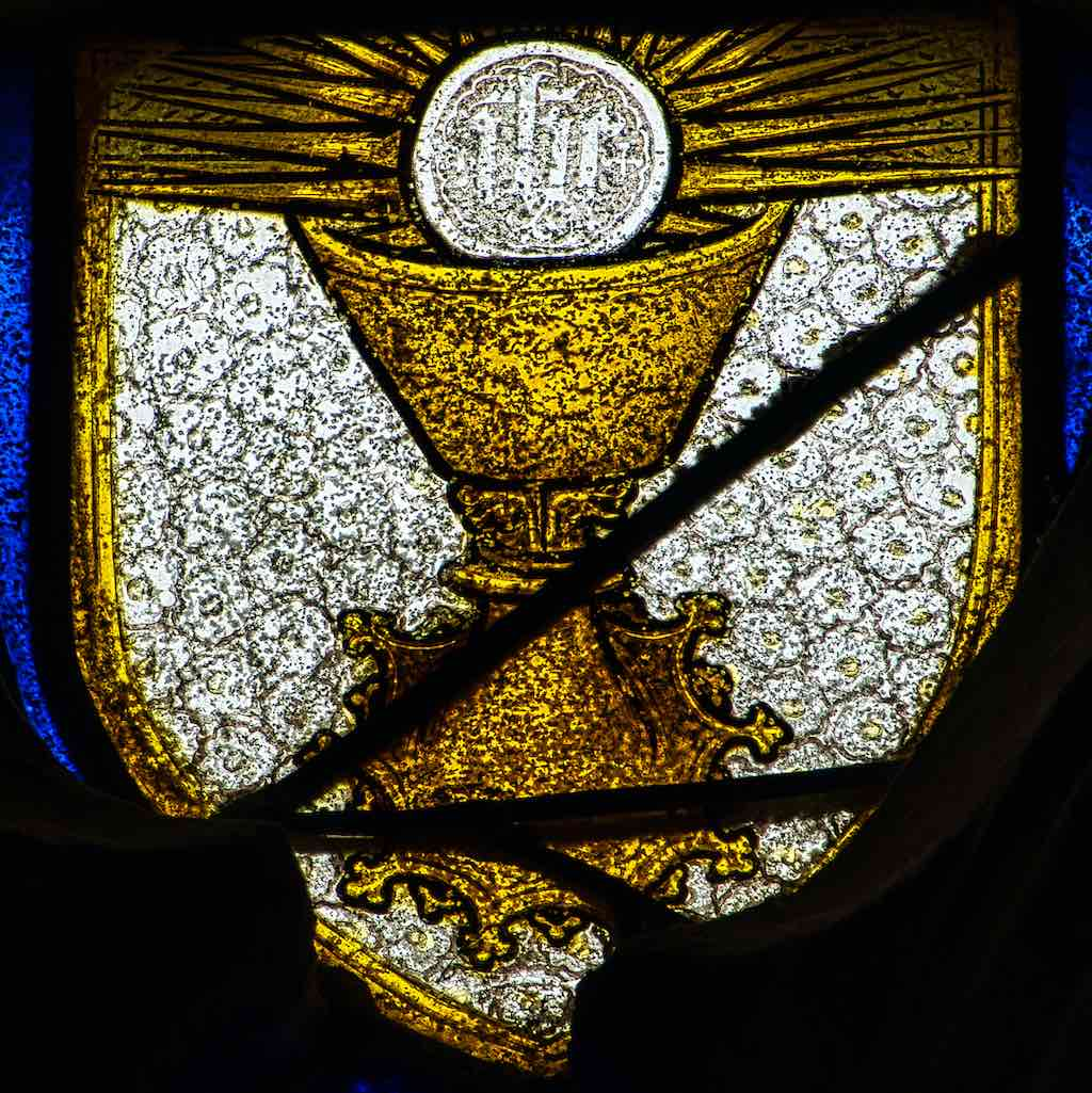 Stained Glass Medieval Chalice Host Torbryan