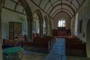 Church Interior Nave Pillar Light Bradstone