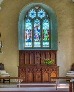 Church Interior Sanctuary Altar East Window Woolfardisworthy